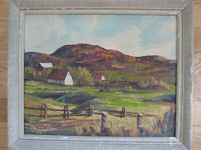 Antique Czech Canadian Impressionist Oil Painting Signed Marcel Stary Listed Old