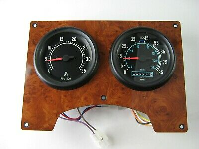 NOS Faux Wood Grain International Dash Cluster Speedometer Tachometer 2015497C92