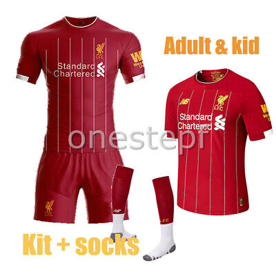 2019-20 Red Home Football Kit Jersey Strip+socks outfit kids size adult new
