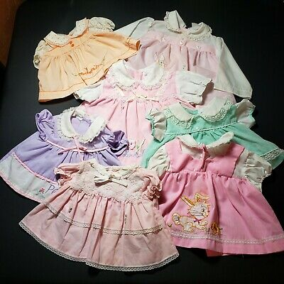 Baby Girls Dresses Size 0-6 Months Lot of 7 Babyfair Mayfair Cradle Togs