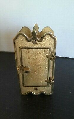 Vintage Brass Door Knocker Peep Hole Hatch Antique Speakeasy Safety View Window~