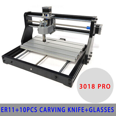CNC 3018 PRO Machine Router 3 Axis Engraving PCB Wood DIY Mill+ Laser Head ER11