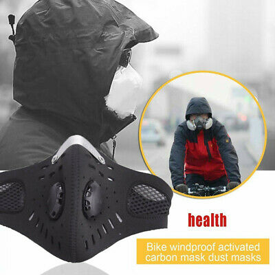 Reusable Anti Dust Smoke Allergy Respirator Outdoor Mouth Mask PM2.5 Mask Filter