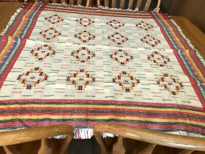 """Vintage Woven 45"""" Square Table Cloth"""