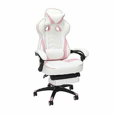 RESPAWN 110 Racing Style Gaming Chair, Reclining Ergonomic Leather Chair Pink