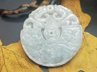 AAAAA Chinese Hand-carved aristocratic wearing Jadeite jade pendant Dragon Beast