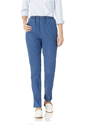 Chic Classic Collection Women's Stretch Elastic Waist Pull-On Pant, 16P