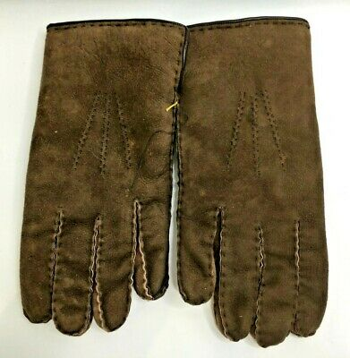 3 Pairs of Mens Vintage Leather Gloves Medium Size