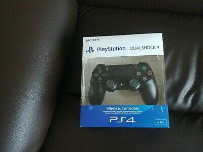 COLLECTION ONLY PS4 Sony Official Black Dualshock Controller Brand New Sealed