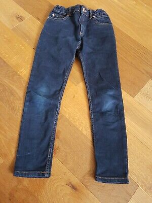 River Island Boys navy blue Trousers age 8 years 99% cotton vgc UK