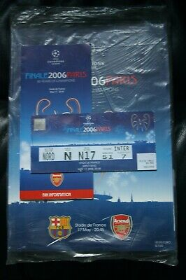 Barcelona v Arsenal 2006 Champions League Final Programme/Supplement and Ticket