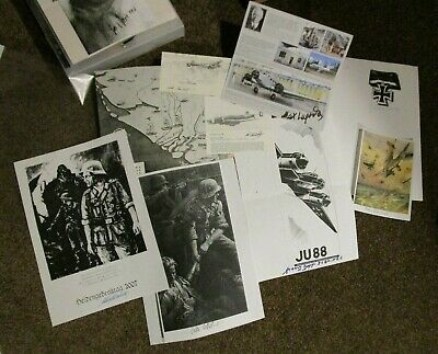 German WW2 Wehrmacht Knights Cross Winners Signed Bundle (9x Signatures!!)