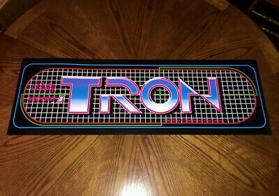"""TRON classic arcade video game huge 36"""" marquee style wall poster retro gaming"""