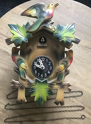 German Vintage Colourful Antique Cuckoo Clock