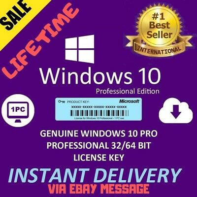 Microsoft Windows 10 Pro Vollversion 32/64Bit/KEY+Download/Multilingual/