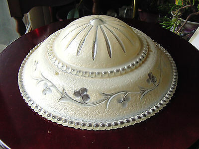 Antique Tiered Beaded Vine Glass Hanging Ceiling Chandelier Light Fixture Shade