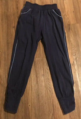 Hanna Andersson Girls Black Jogger Knit Pants - Size 130 / 8 Yrs