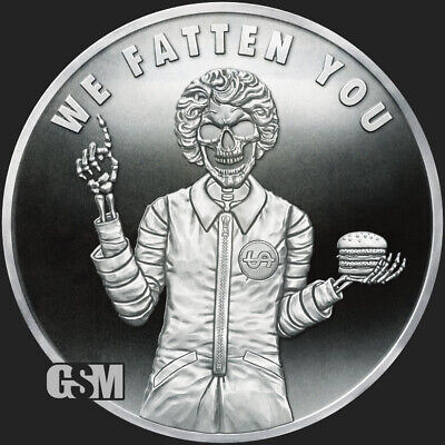 """2020 We Fatten You V2 Proof - Silver Shield Pyramid of Power #1 """"In-Hand"""" Round"""