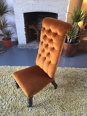 Antique Victorian Prie Dieu Chair button down - STUNNING!!! Country living style