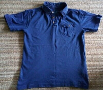 Boys blue short sleeve collared t-shirt from Primark to fit age 11-12 years