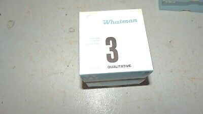 2 boxes WHATMAN 1003-090 Qualitative Fltr Paper,CFP3,9.0cm,PK200