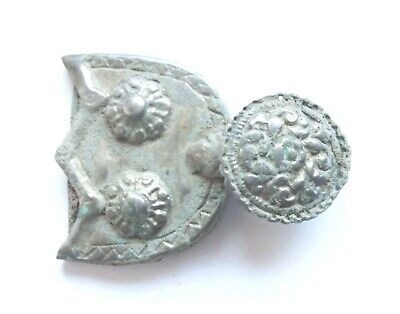 Amazing BYZANTINE PERIOD Ancient Bronze Belt Buckle circa - 800 AD