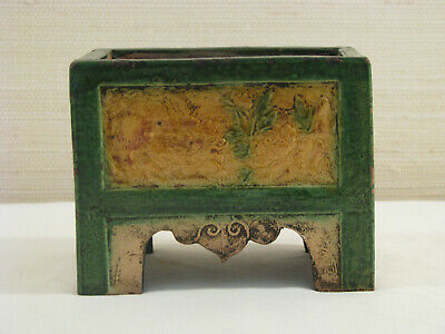 Tang Dynasty Sancai Glazed Chinese Pottery Chest