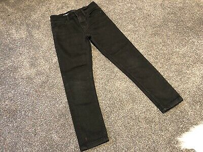 Next Boys Denim Black Skinny Jeans Age 8