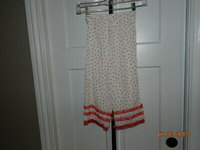 Vintage Van Raalte Nylon Pettipants Bloomers Panties size 6 red white polka dots