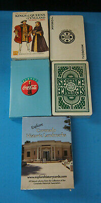 Coca Cola Playing Cards Kings And Queens Assoredt Cars Lot