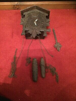 Vintage German Cuckoo Clock Repair Or Spares