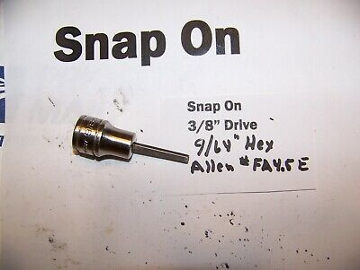 "Snap on 3/8""  Drive Hex Allen  9/64""  Socket  Adapter Driver #FA4.5E"