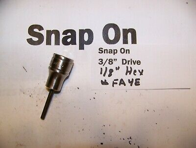"Snap on 3/8""  Drive Hex Allen  1/8""  Socket  Adapter Driver #FA4E"