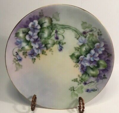 Antique Bavarian Handpainted Gold Trimmed Art Plate(s) c.1908-39