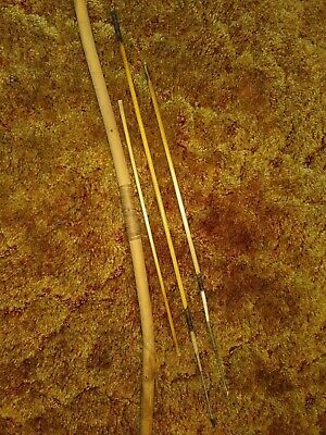 African Kung Bushman Bow And Arrows Vintage Genuine Hunting Set From Kalahari