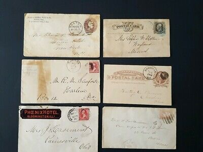 Old stamp Cover & Postal Card collection1870's -1890's