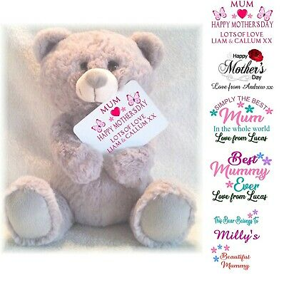 Personalised Mother's Day Teddy Bear With Printed Purse Card Mothers Day