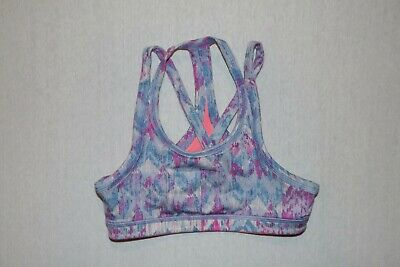 Ivivva blue purple orange reversible dance top sports bra 10 HCB lululemon