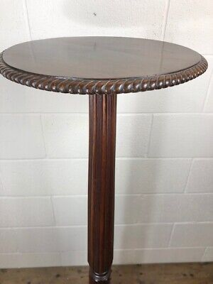 Large Antique 19th Century Mahogany Torchere Plant Stand - Delivery Available