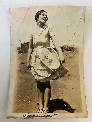 Antique Vintage Photo Picture Beautiful Woman Model Pinup Clothing Midland Texas
