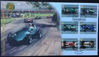 STIRLING MOSS, F1 Driver, Signed 3.7.2007 Grand Prix Motor Racing FDC Aintree