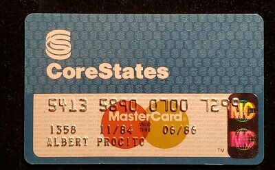 CoreState MasterCard Credit Card exp 1986 ♡Free Shipping♡cc1009♡