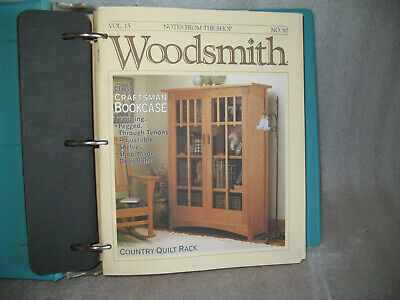 Lot Of 22 Woodsmith Woodworking Magazines Vintage