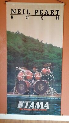 Neil Peart Rush Tama Drums vintage Banner in great condition!