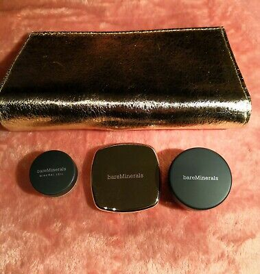 Makeup Set M - bareMinerals / 3 Items + Bag / Blusher / Veil / Liner Shadow NEW