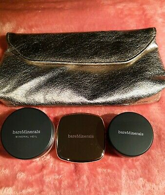 Makeup Set I - bareMinerals / 3 Items + Bag / Mineral Veil / Blusher / Liner NEW