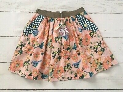 NEW NWT Matilda Jane 435 Makayla Skirt Friends Forever Floral Girls Size 8