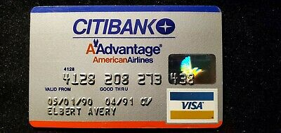 CitiBank AAdvantage American Airlines card exp 1991♡Free Shipping♡cc687