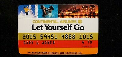 Continental Airlines credit card expired 1979♡Free Shipping♡cc556