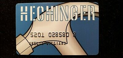Hechinger charge card♡Free Shipping♡cc710♡
